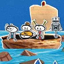 Dessin Deskplorers en bateau
