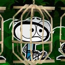 Dessin Deskplorers Tom en cage