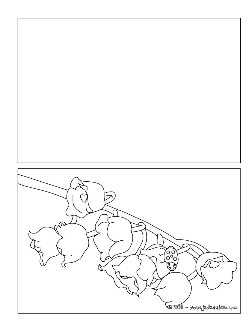Coloriages coloriage brin de muguet gratuit - Coloriage 1er mai ...