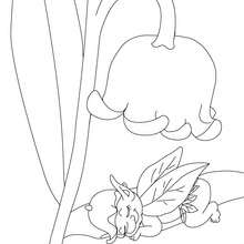 Muguet porte bonheur Coloriage  imprimer - Coloriage - Coloriage NATURE - Coloriage FLEUR - Coloriage MUGUET