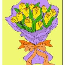 Dessin Bouquet fête des mères - Dessin - Dessin FETES - Dessin FETE DES MAMANS