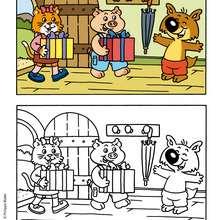 Des cadeaux pour MINI-LOUP - Coloriage - Coloriage DESSINS ANIMES - Coloriage MINI-LOUP