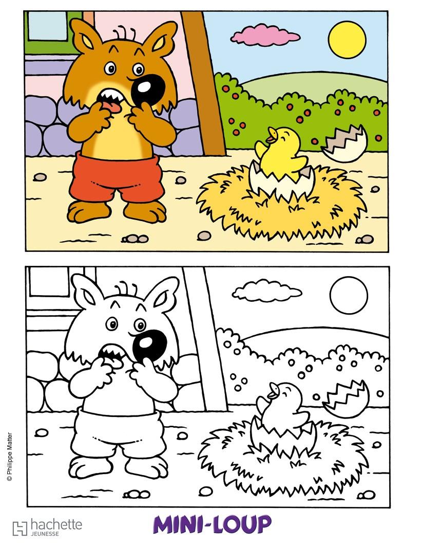 Coloriages mini loup colorier en ligne - Mini loup coloriage ...