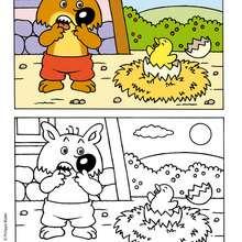 MINI-LOUP à colorier en ligne - Coloriage - Coloriage DESSINS ANIMES - Coloriage MINI-LOUP