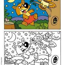 MINI-LOUP gratuit - Coloriage - Coloriage DESSINS ANIMES - Coloriage MINI-LOUP