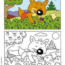 MINI-LOUP à imprimer - Coloriage - Coloriage DESSINS ANIMES - Coloriage MINI-LOUP