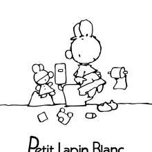 PETIT LAPIN BLANC à colorier en ligne - Coloriage - Coloriage PETIT LAPIN BLANC