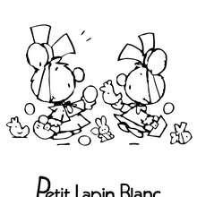 Coloriage en ligne de PETIT LAPIN BLANC - Coloriage - Coloriage PETIT LAPIN BLANC