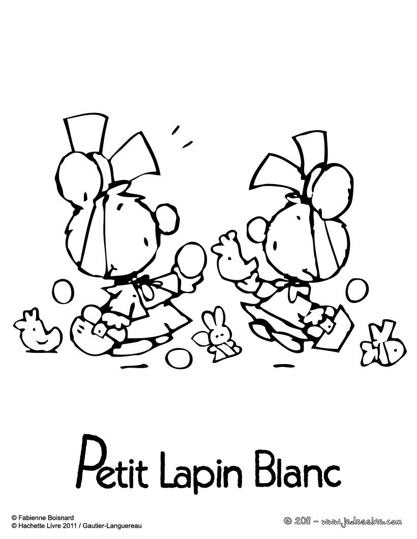 Coloriages coloriage en ligne de petit lapin blanc fr - Lapin en dessin ...