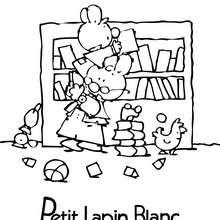Coloriage gratuit PETIT LAPIN BLANC