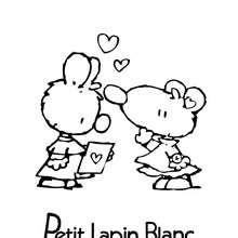 PETIT LAPIN BLANC à colorier gratuitement - Coloriage - Coloriage PETIT LAPIN BLANC