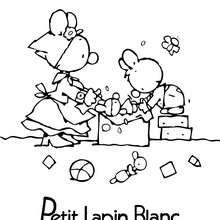 Coloriage : PETIT LAPIN BLANCà imprimer en ligne