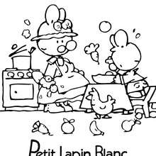 Coloriage PETIT LAPIN BLANC gratuit