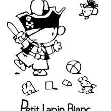 Coloriage du pirate PETIT LAPIN BLANC