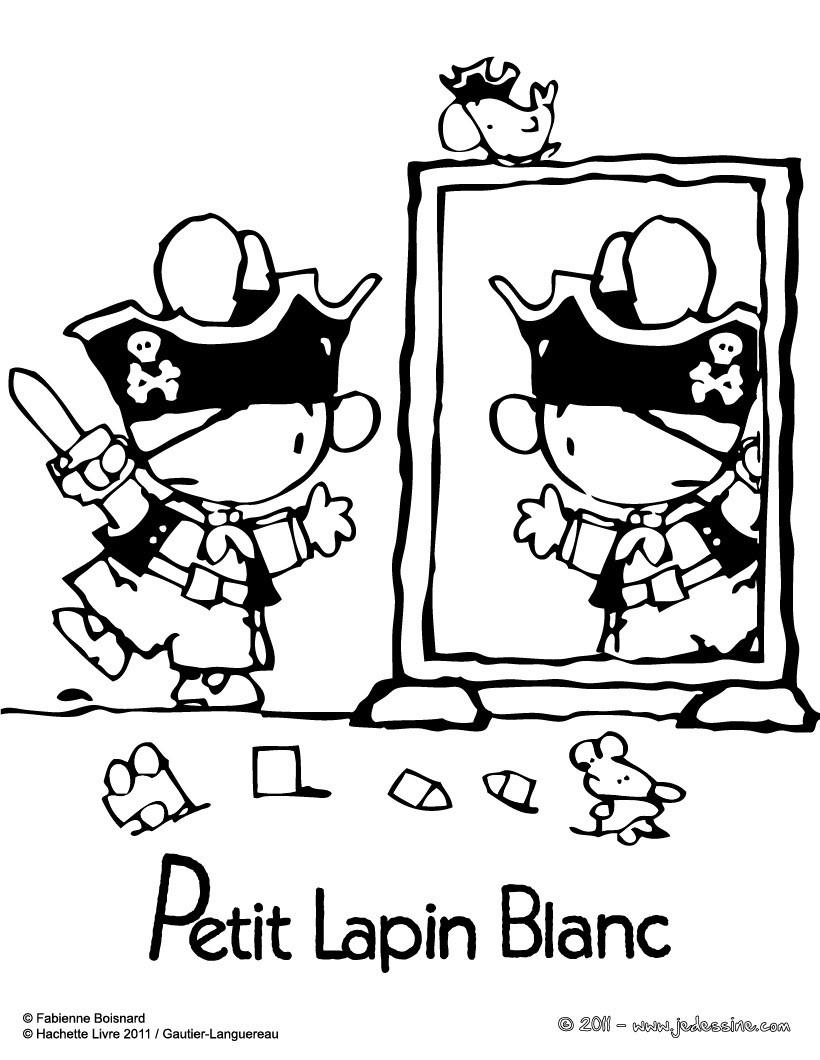 Coloriages dessin de petit lapin blanc - Coloriage petit lapin ...