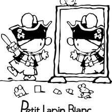 Coloriage : Dessin de PETIT LAPIN BLANC
