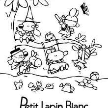 Coloriage : Les amis de PETIT LAPIN BLANC à colorier
