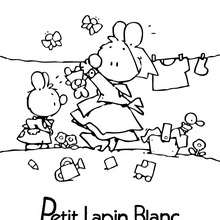 Coloriage : Image de PETIT LAPIN BLANC