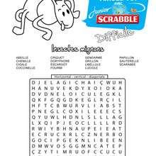 Difficile : 15 insectes cachés - Les mots mêlés SCRABBLE - Jeux - Les mots mêlés - Les mots mêlés SCRABBLE
