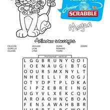 Moyen : 10 animaux sauvages cachés - Les mots mêlés SCRABBLE - Jeux - Les mots mêlés - Les mots mêlés SCRABBLE