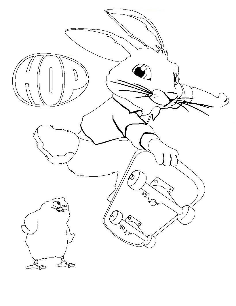 Coloriage de ROBBIE le lapin de HOP