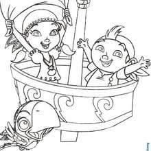 Coloriage : IZZY et de FRISE : Jake et les pirates