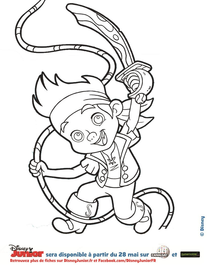 Coloriage : Jake, le pirate