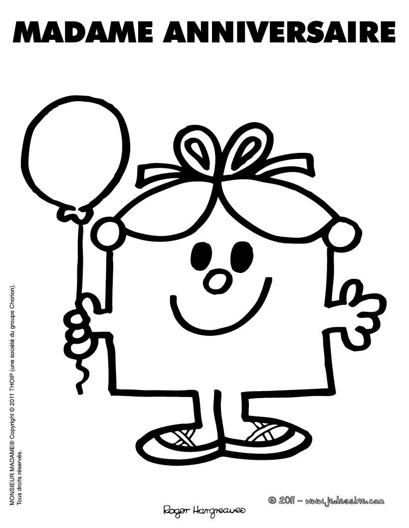 Préférence Coloriages madame anniversaire à imprimer - fr.hellokids.com LL33