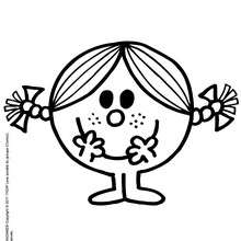 MADAME BONHEUR à dessiner en ligne - Coloriage - Coloriage de MONSIEUR MADAME - Coloriage MADAME - Coloriage MADAME BONHEUR