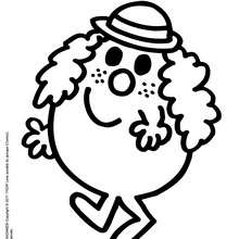 Coloriage gratuit MADAME FOLLETTE - Coloriage - Coloriage de MONSIEUR MADAME - Coloriage MADAME - Coloriage MADAME FOLLETTE