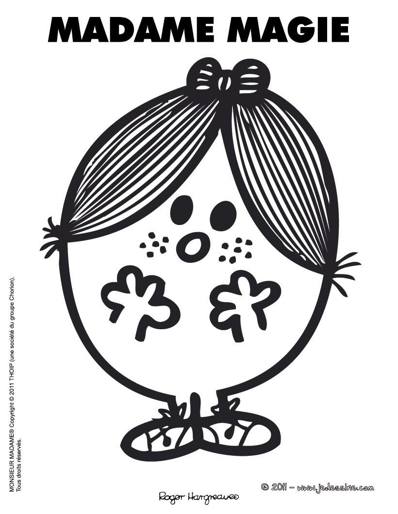 coloriages dessin à imprimer madame magie fr hellokids com