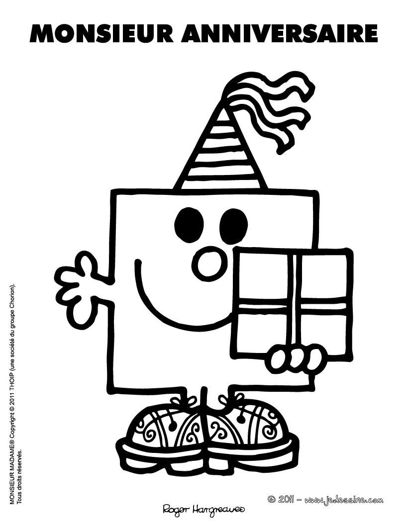 coloriages coloriage imprimer monsieur anniversaire frhellokidscom - Coloriage Anniversaire