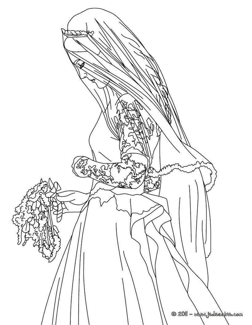coloriage duchesse de cambridge