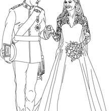 Coloriage Mariage KATE et WILLIAM