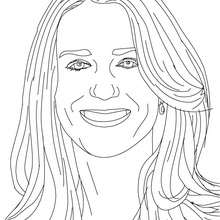 Coloriage PIPPA MIDDLETON