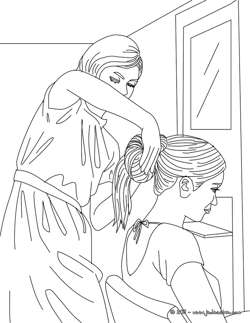 printable coloring pages haircuts - photo#8