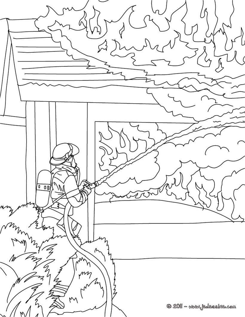 Coloriages coloriage gratuit pompier - Coloriages pompiers ...