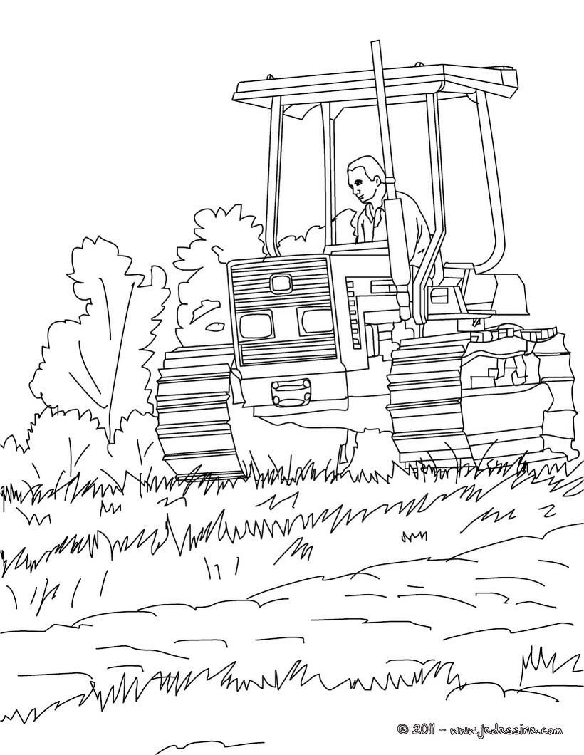 Coloriages tracteur colorier - Dessin a colorier de tracteur ...