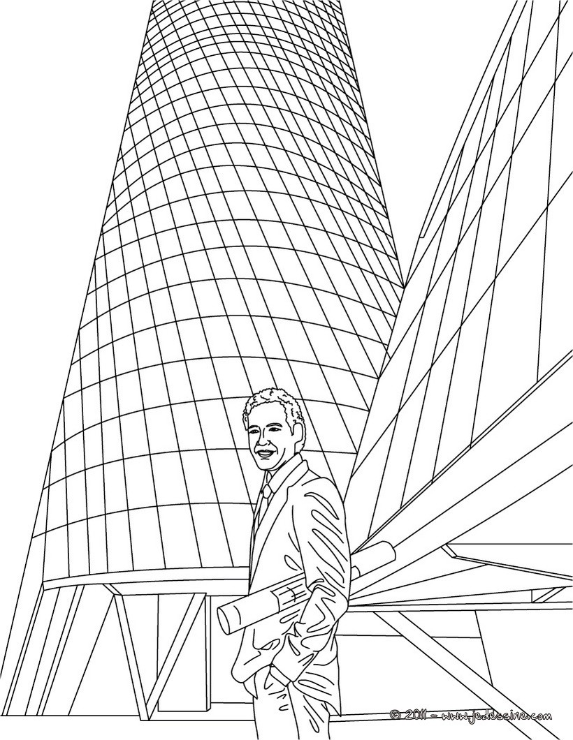 Coloriages dessin gratuit architecte for Architecture en ligne