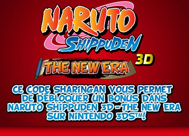 niska cena świetne dopasowanie najniższa zniżka Codes Sharingan : Codes secrets pour NARUTO SHIPPUNDEN 3D ...