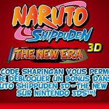 Codes Sharingan : Codes secrets pour NARUTO SHIPPUNDEN 3D - The new era sur Nintendo 3DS