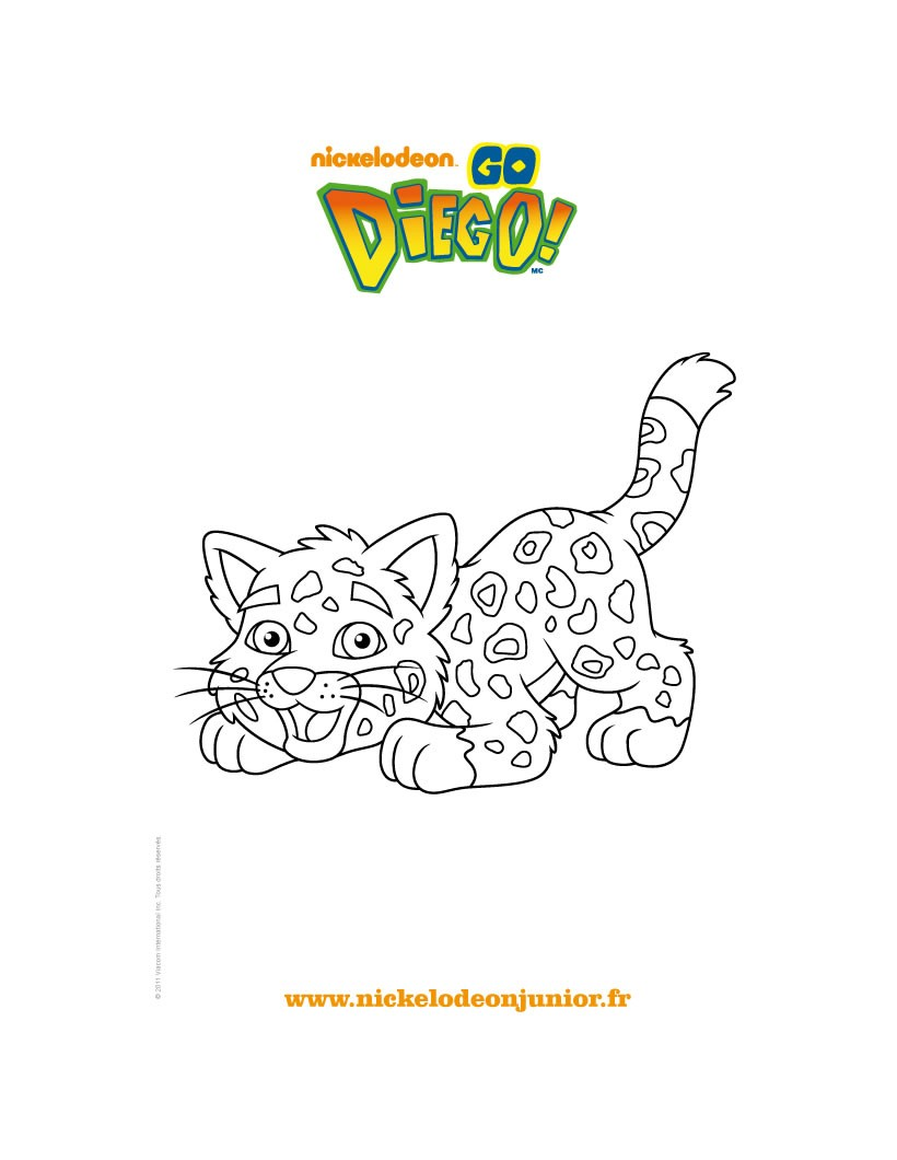 Coloriage : Le jaguar de DIEGO à colorier gratuitement