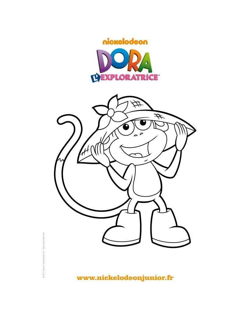 Coloriages coloriage gratuit babouche et son chapeau fr - Dora a la plage ...