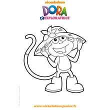 Coloriage gratuit BABOUCHE et son chapeau - Coloriage - Coloriage DORA - Coloriage TOURNEE NICKELODEON