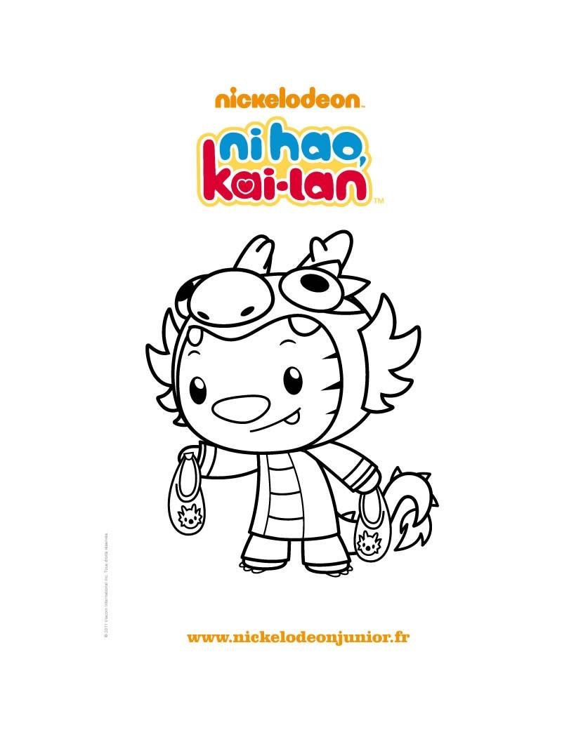 Coloriage de RINTOO l'ami de KAI LAN