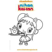 Dessin à imprimer NI HAO KAI LAN - Coloriage - Coloriage DORA - Coloriage TOURNEE NICKELODEON