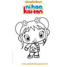 KAI LAN à colorier en ligne - Coloriage - Coloriage DORA - Coloriage TOURNEE NICKELODEON
