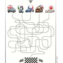 Labyrinthe CARS 2 - Coloriage - Coloriage DISNEY - Coloriage CARS 2
