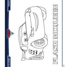 CARS 2 FLASH MCQUEEN à colorier