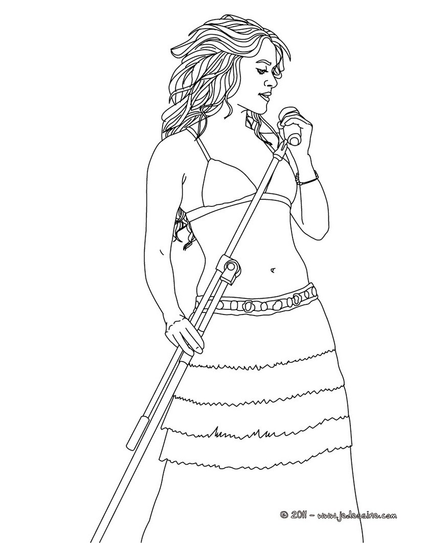 SHAKIRA   dessiner Coloriages SHAKIRA Coloriage Coloriage DE STARS Coloriage SHAKIRA